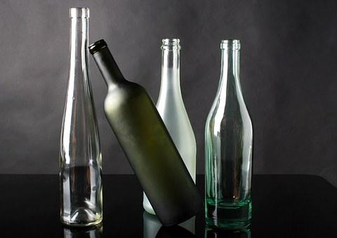 bouteilles en verre